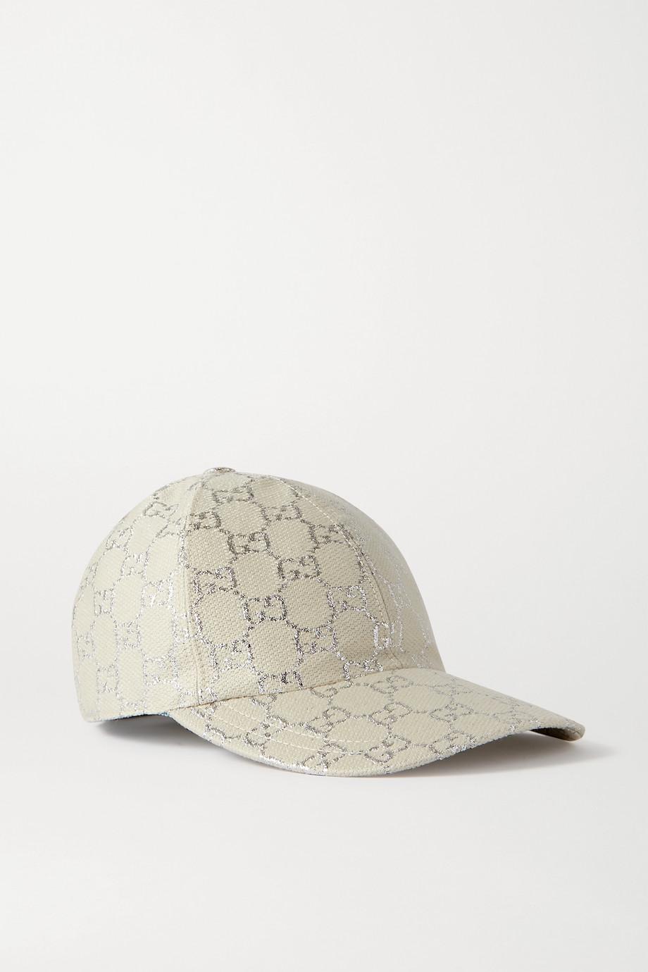 Gucci Metallic wool-blend jacquard baseball cap