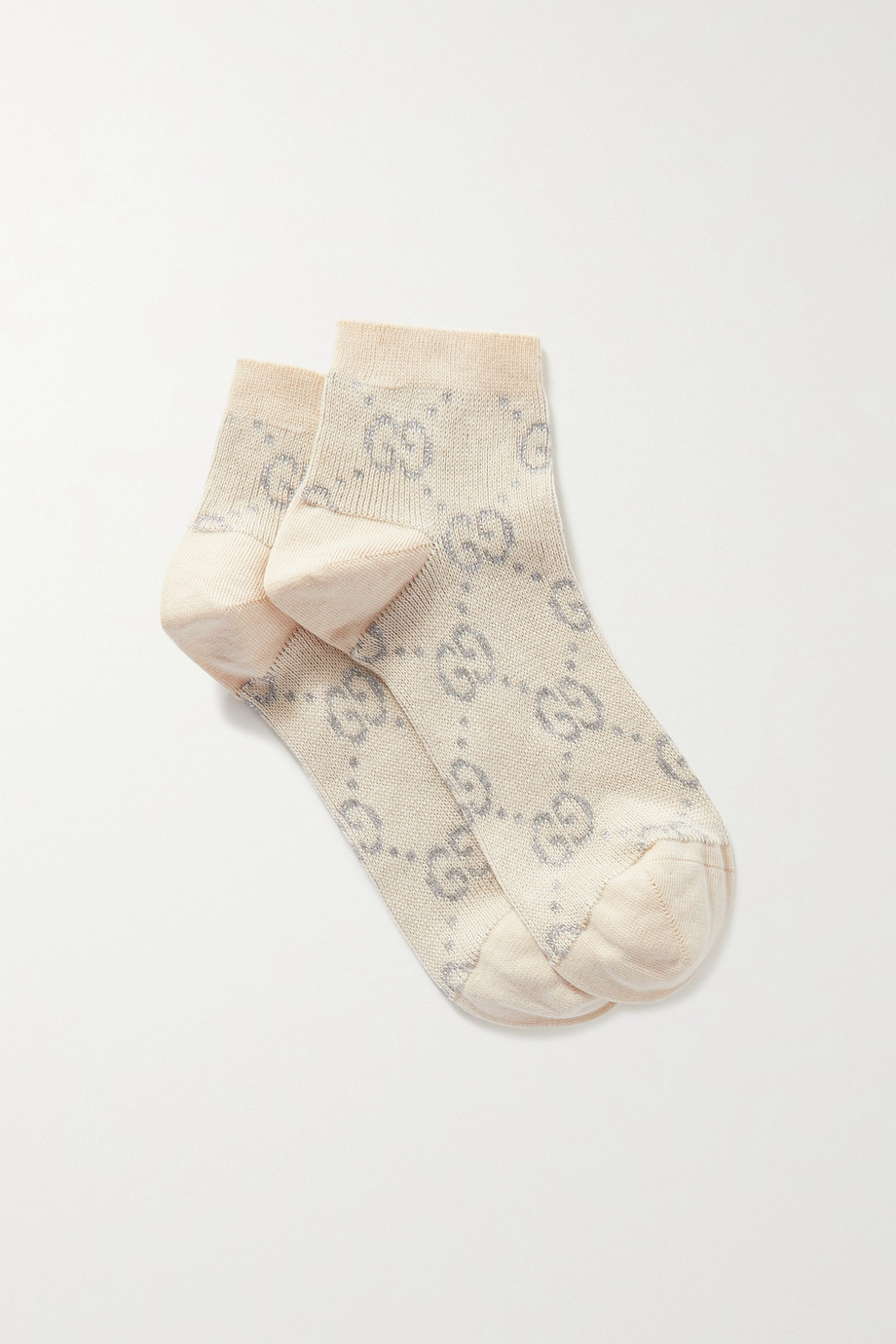 Gucci Metallic cotton-blend jacquard-knit socks