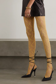 Gucci Metallic lace tights
