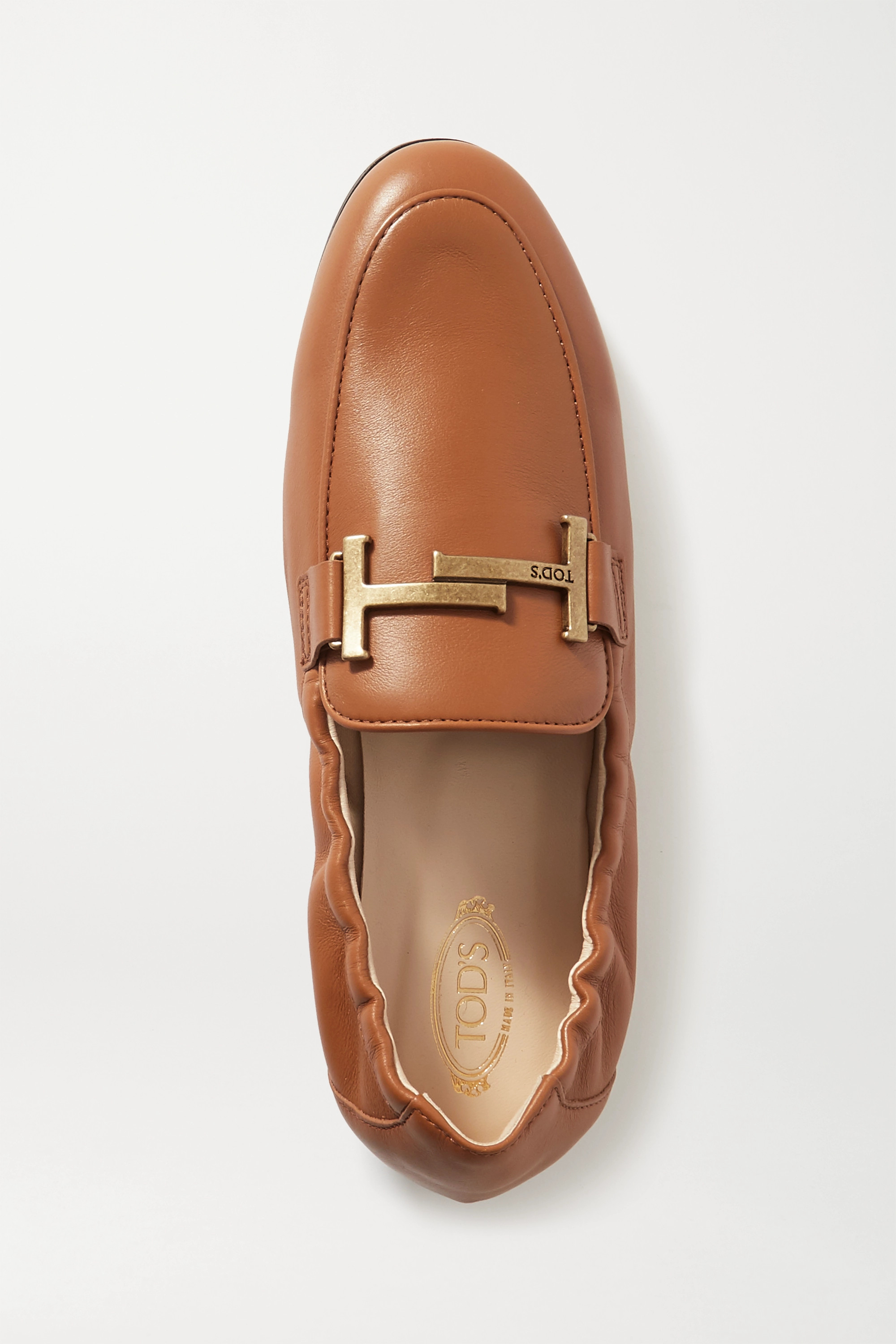 Tod's Doppia embellished leather loafers