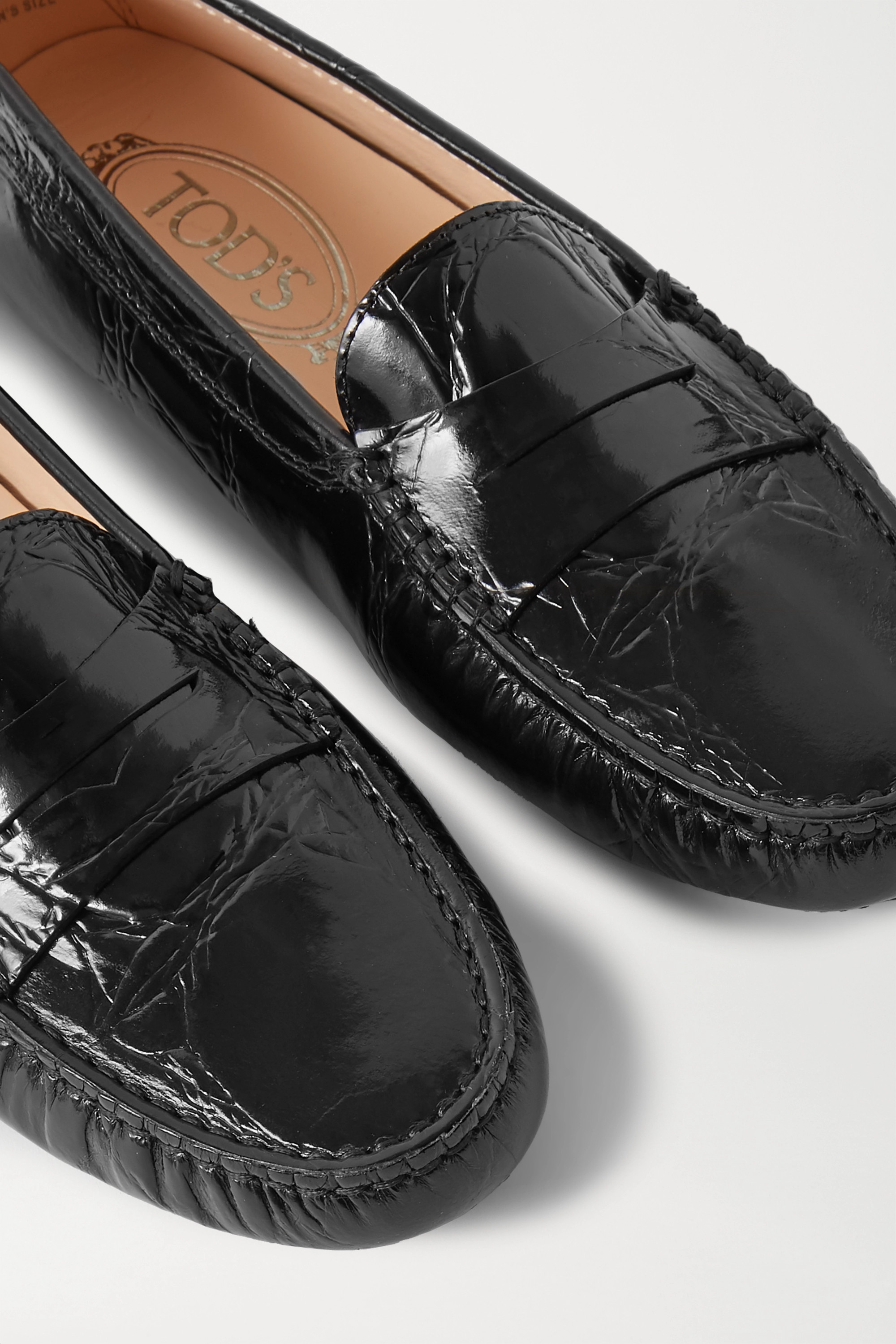 Tod's Gommino croc-effect leather loafers