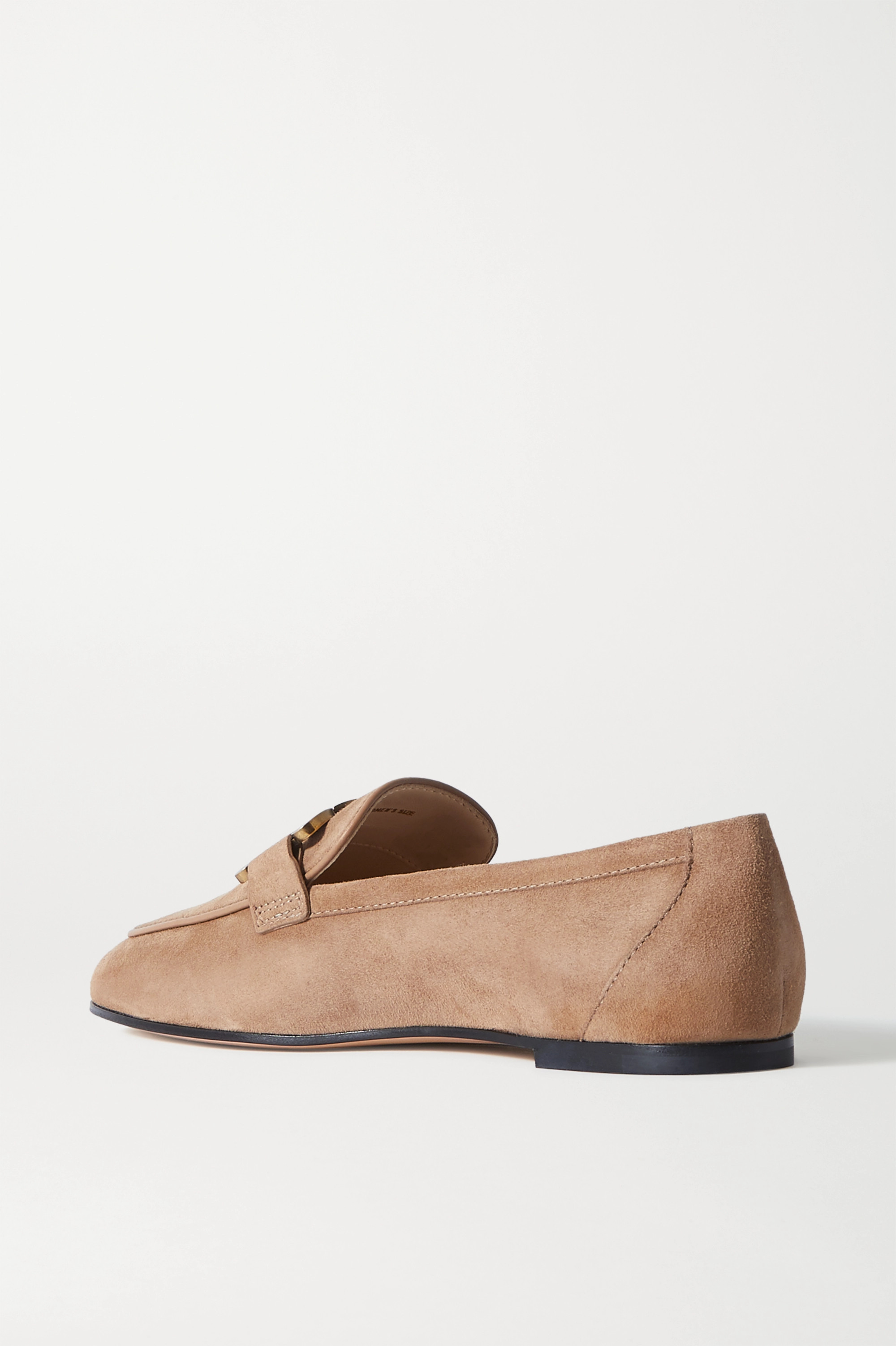 Tod's Catena embellished suede loafers