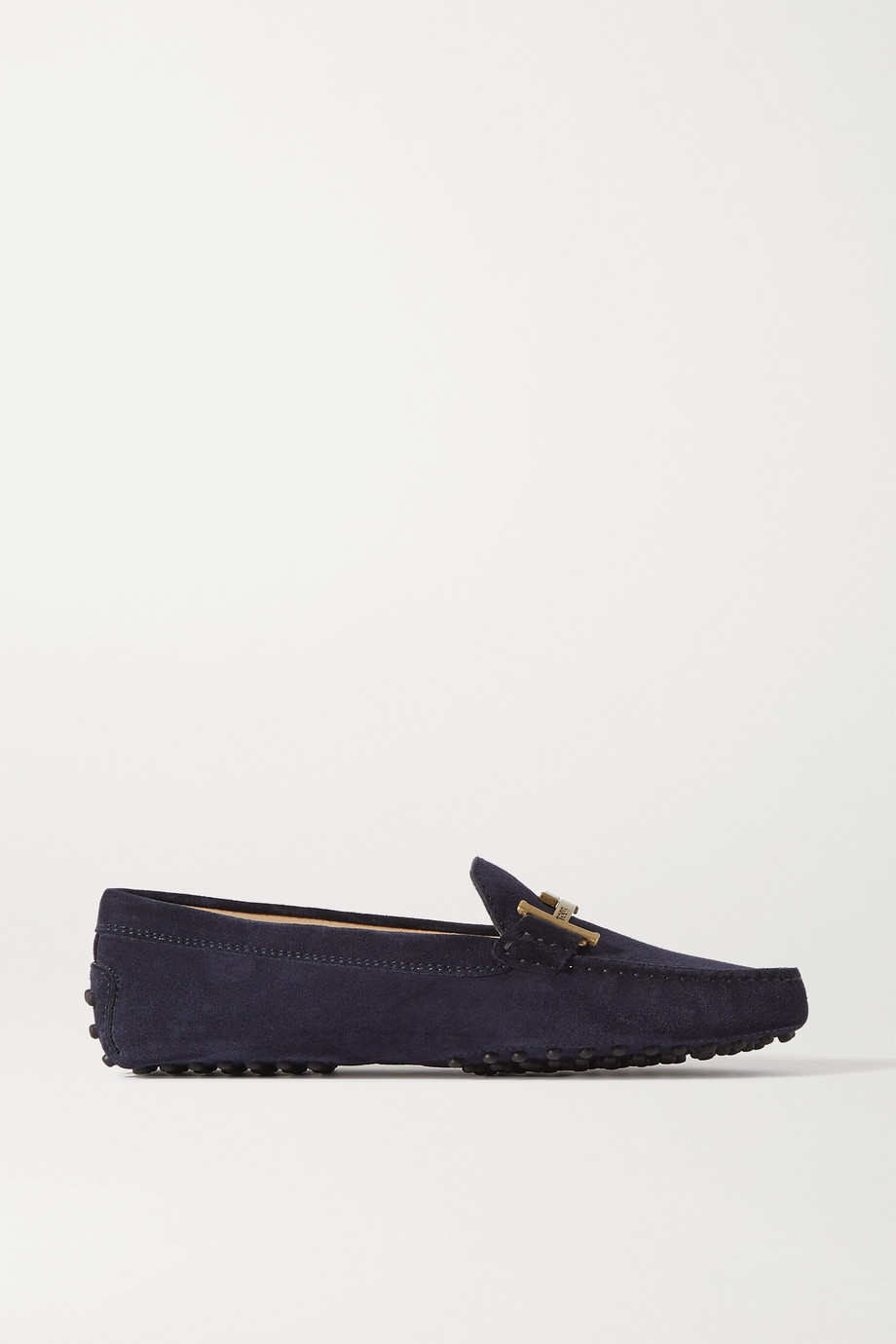 Tod's Gommino Doppia embellished suede loafers