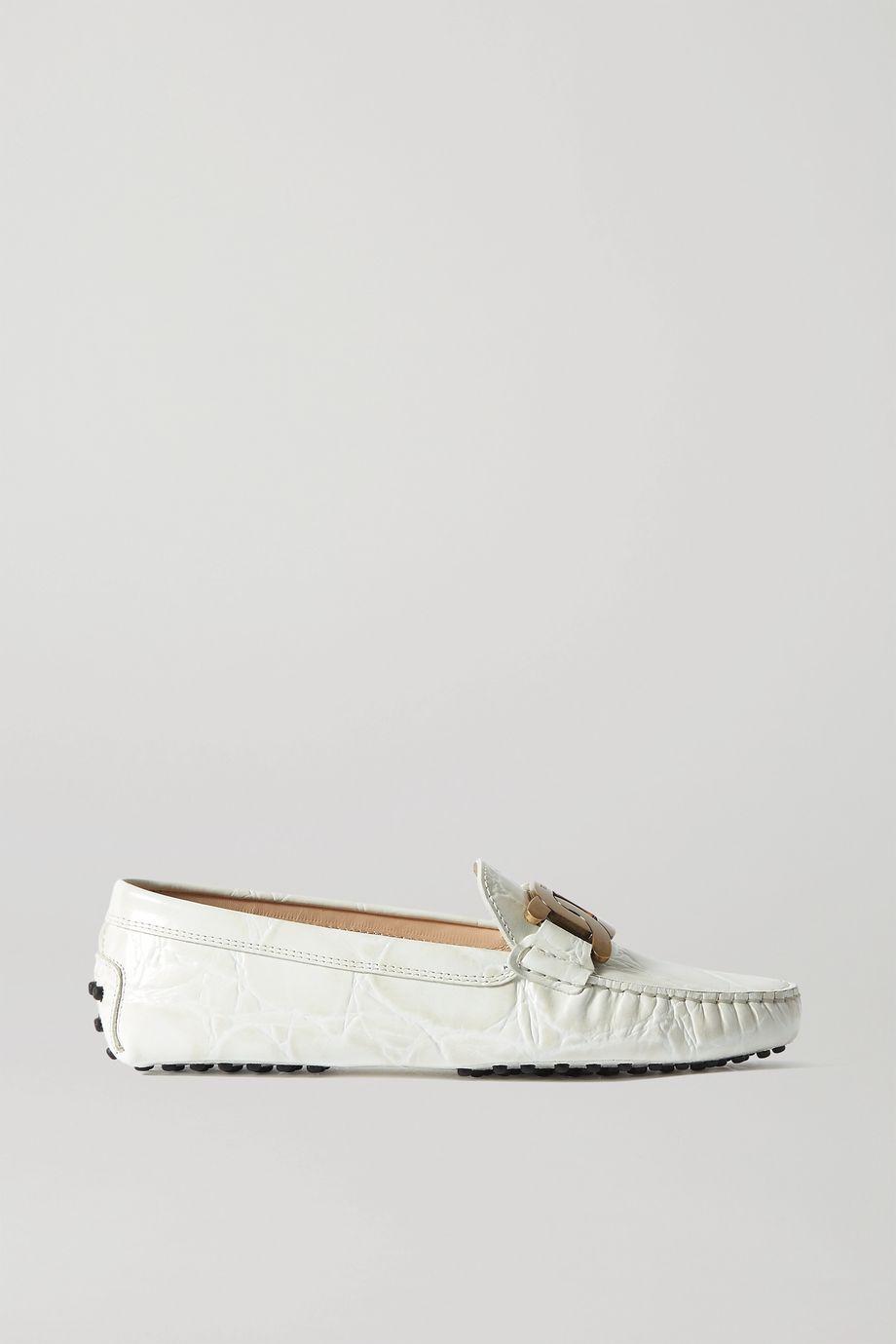 Tod's Gommino Catena verzierte Loafers aus Leder mit Krokodileffekt