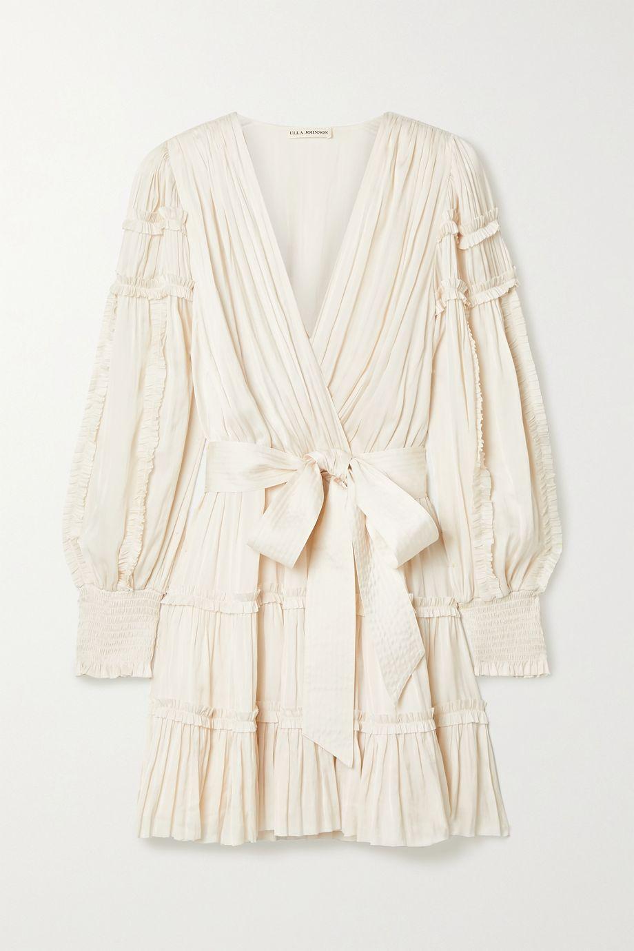 Ulla Johnson Amal belted gathered satin mini dress