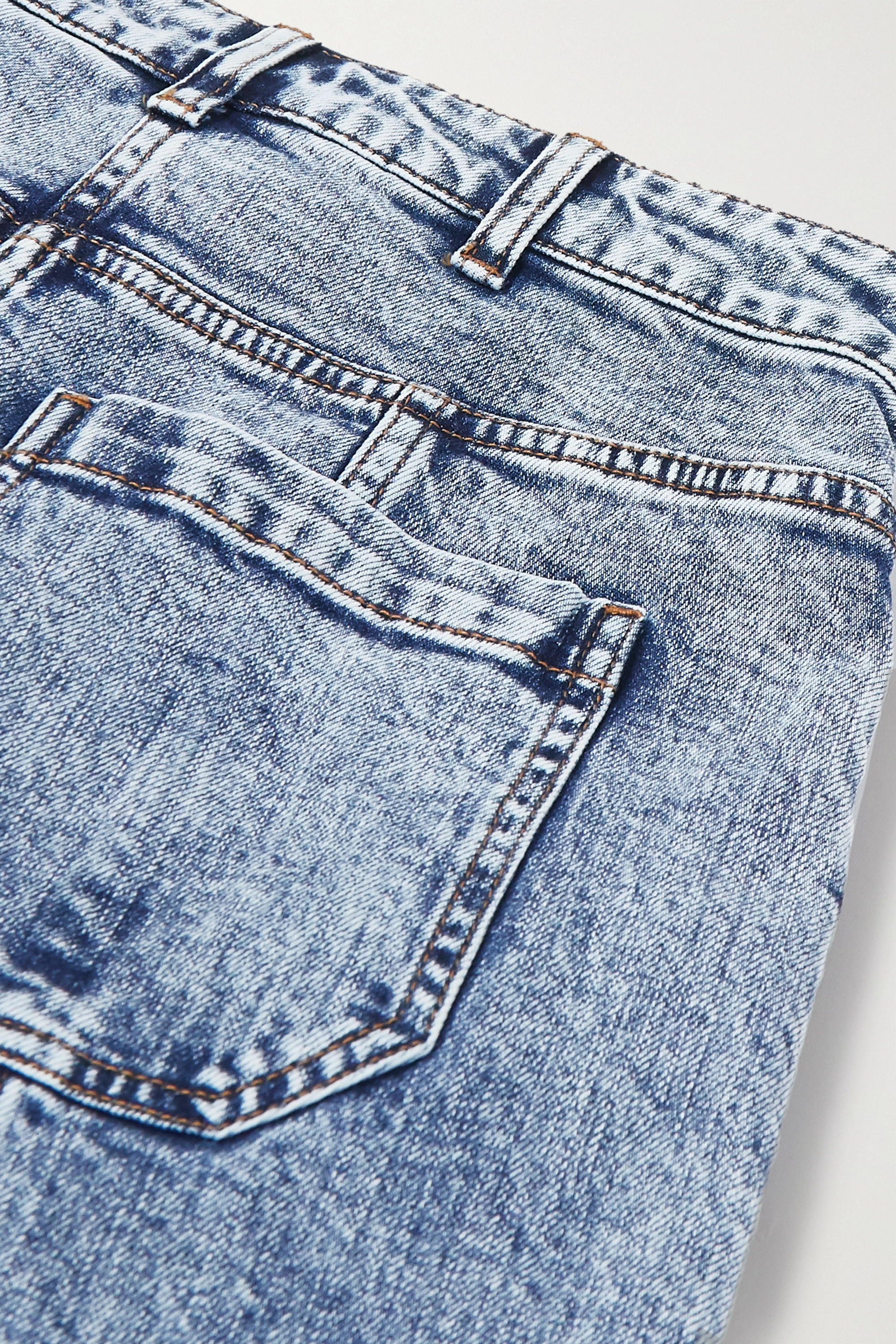 Ulla Johnson Brodie acid-wash high-rise tapered jeans