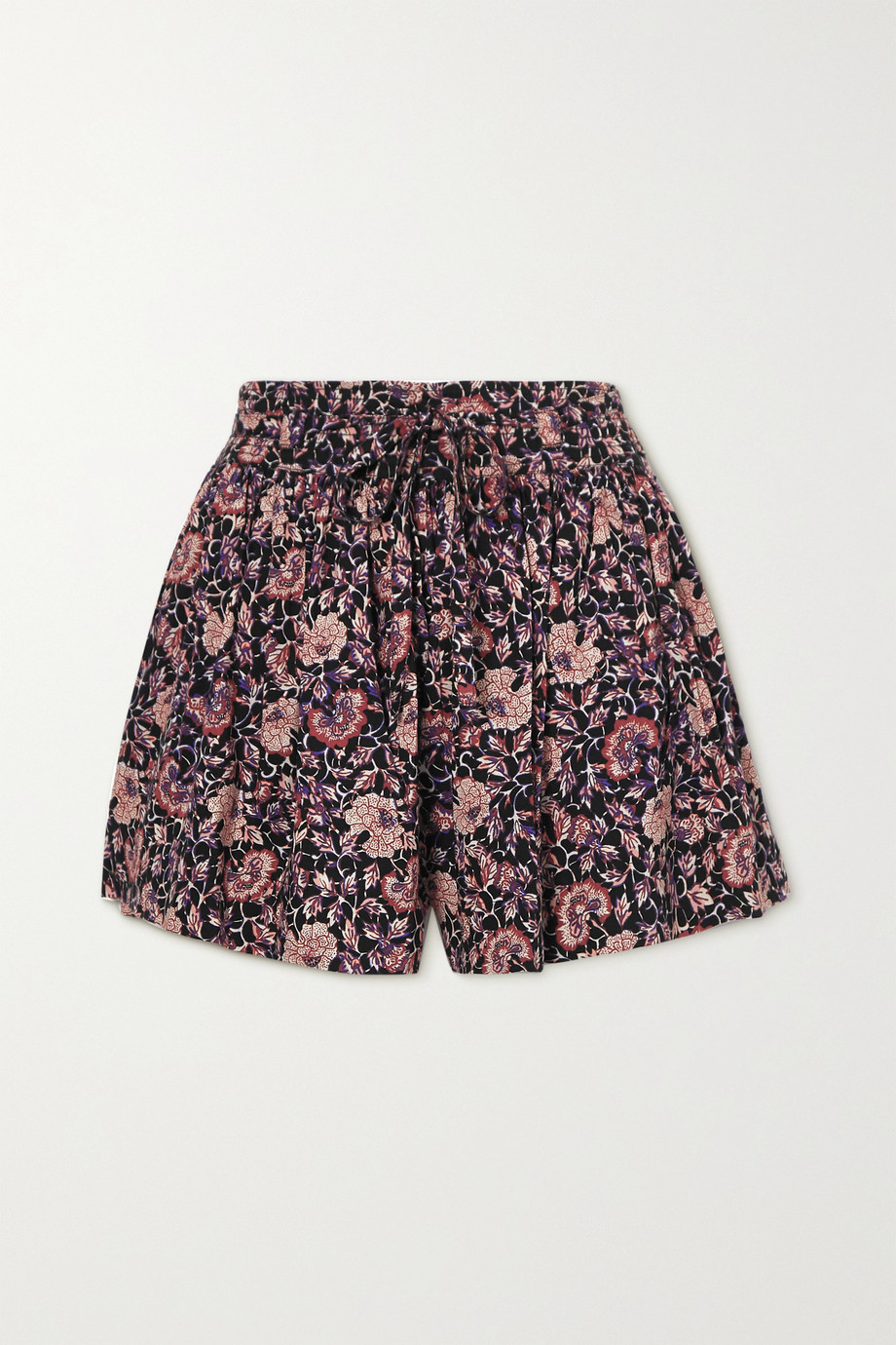 Ulla Johnson Kira gathered floral-print cotton-blend shorts