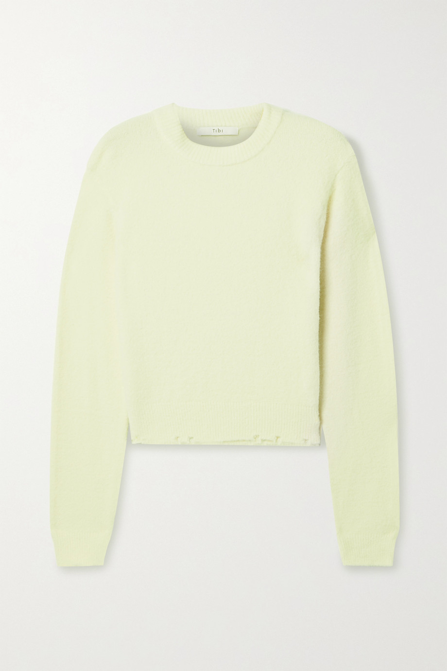 Tibi Strickpullover in Distressed-Optik