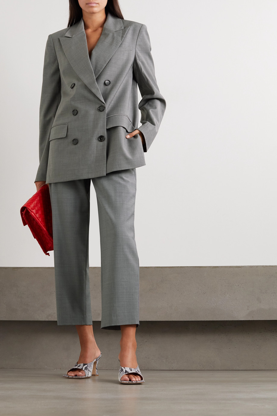 Tibi Double-breasted woven blazer