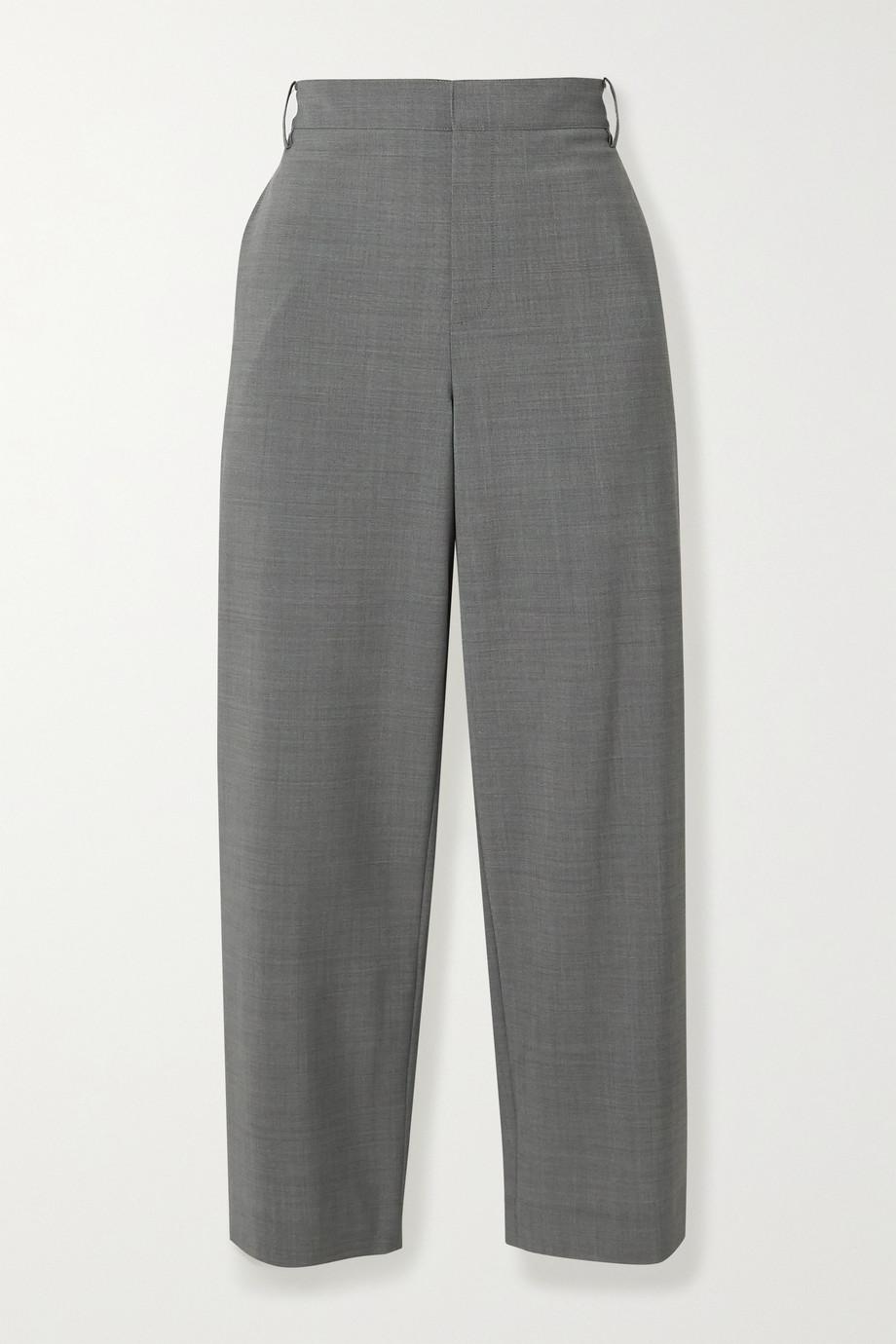 Tibi Cropped woven straight-leg pants