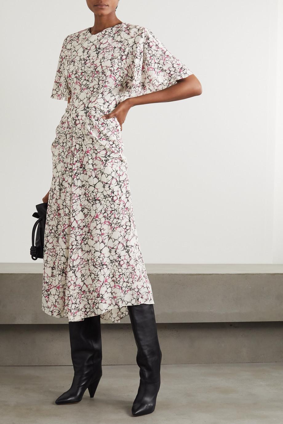 Isabel Marant Berwick printed silk crepe de chine midi dress