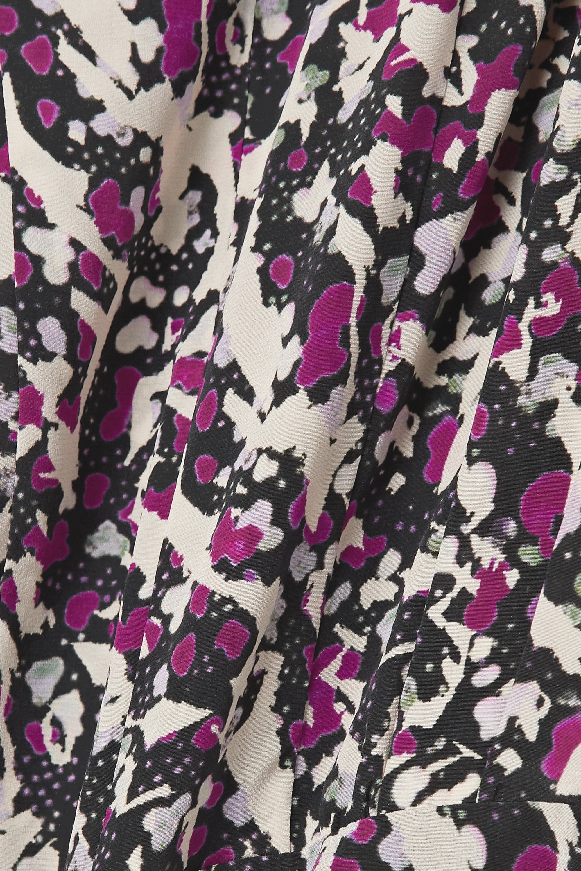 Isabel Marant Margaretia ruched printed silk-blend crepe de chine mini dress