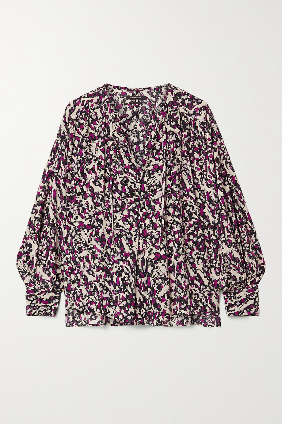 Isabel Marant Amba printed silk-blend crepe de chine blouse