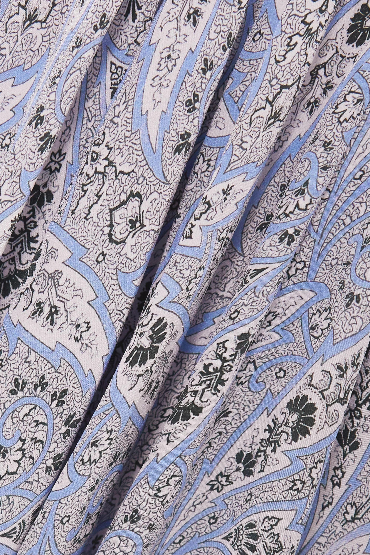 Isabel Marant Robe midi asymétrique en crêpe de soie à imprimé cachemire Romina