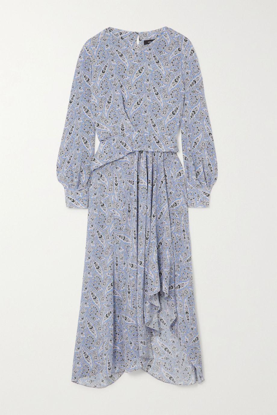 Isabel Marant Romina asymmetric paisley-print silk-crepe midi dress