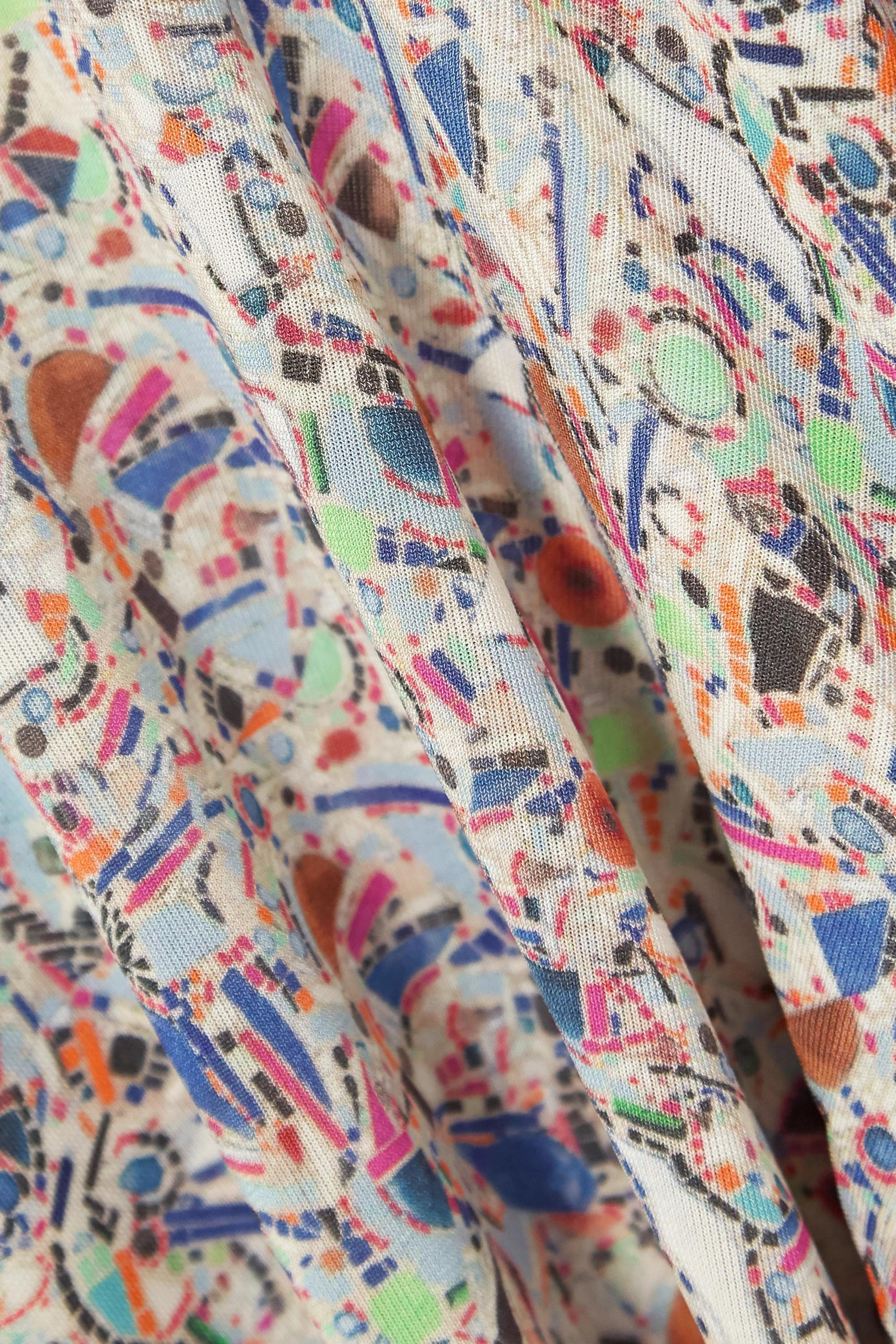 Isabel Marant Haut à col montant en jersey stretch imprimé Goyela