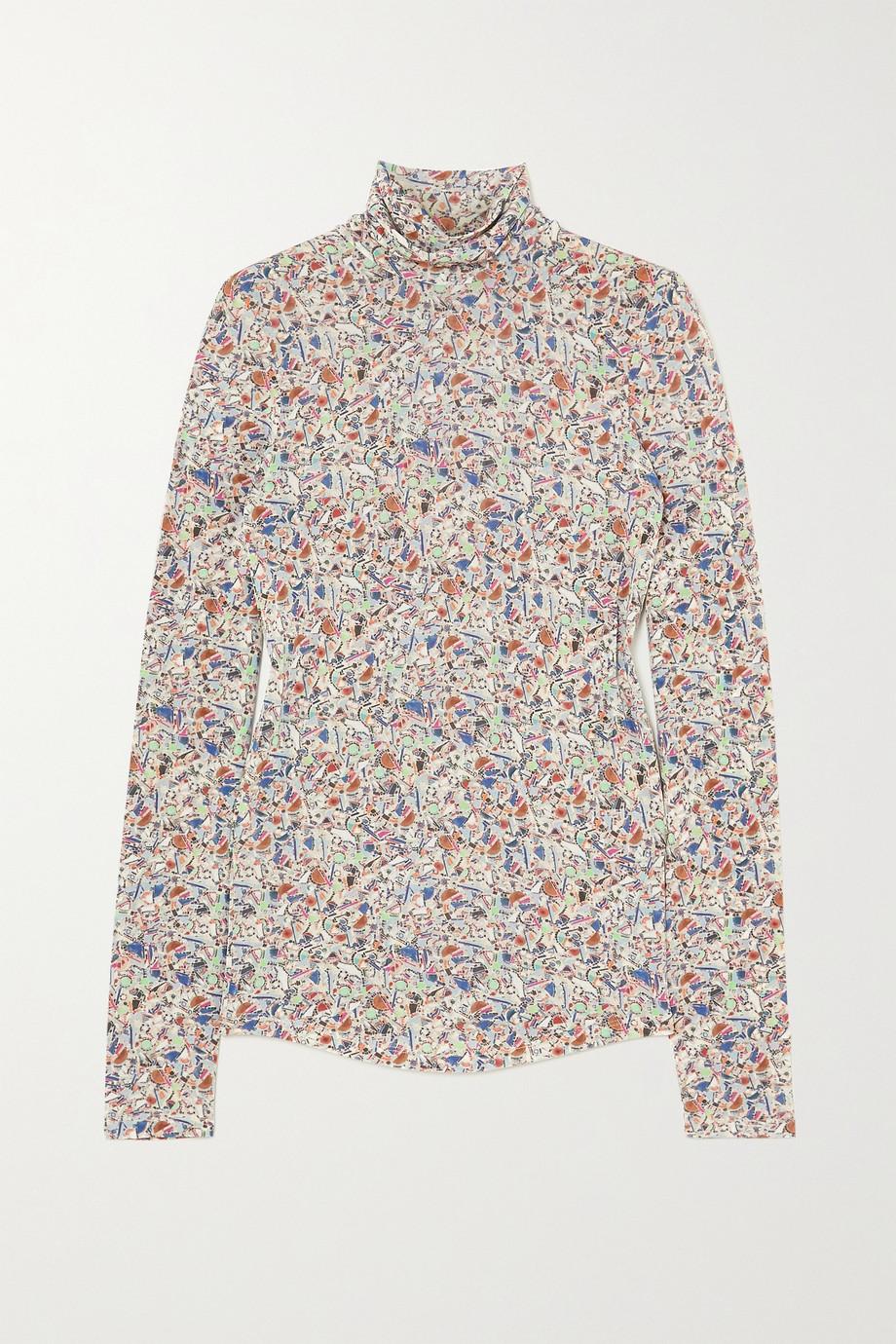 Isabel Marant Goyela printed stretch-jersey turtleneck top