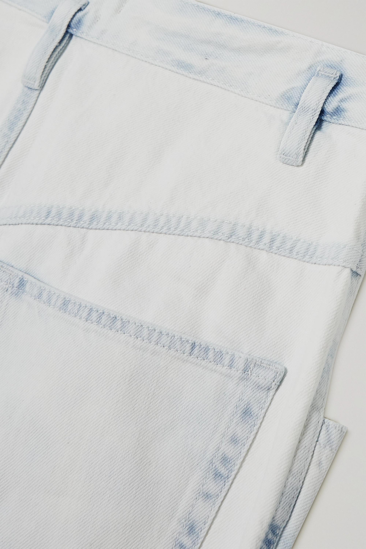 Isabel Marant Nadeloisa paneled high-rise tapered jeans