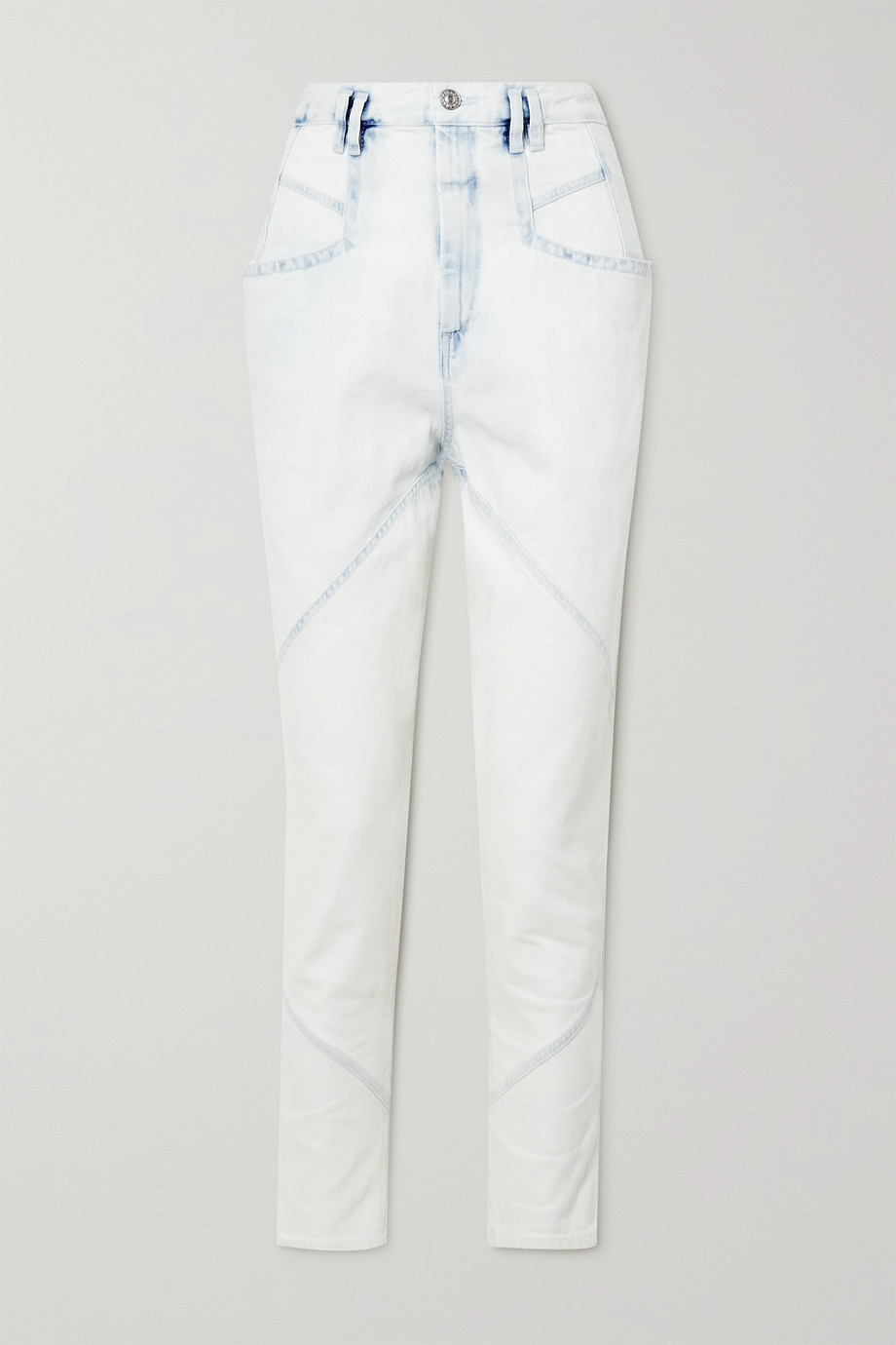 Isabel Marant Nadeloisa paneled high-rise tapered jeans