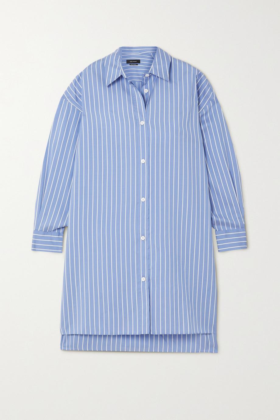Isabel Marant Macali oversized striped silk shirt