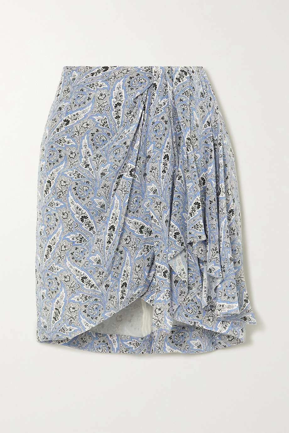 Isabel Marant Ixori draped paisley-print silk crepe de chine mini skirt