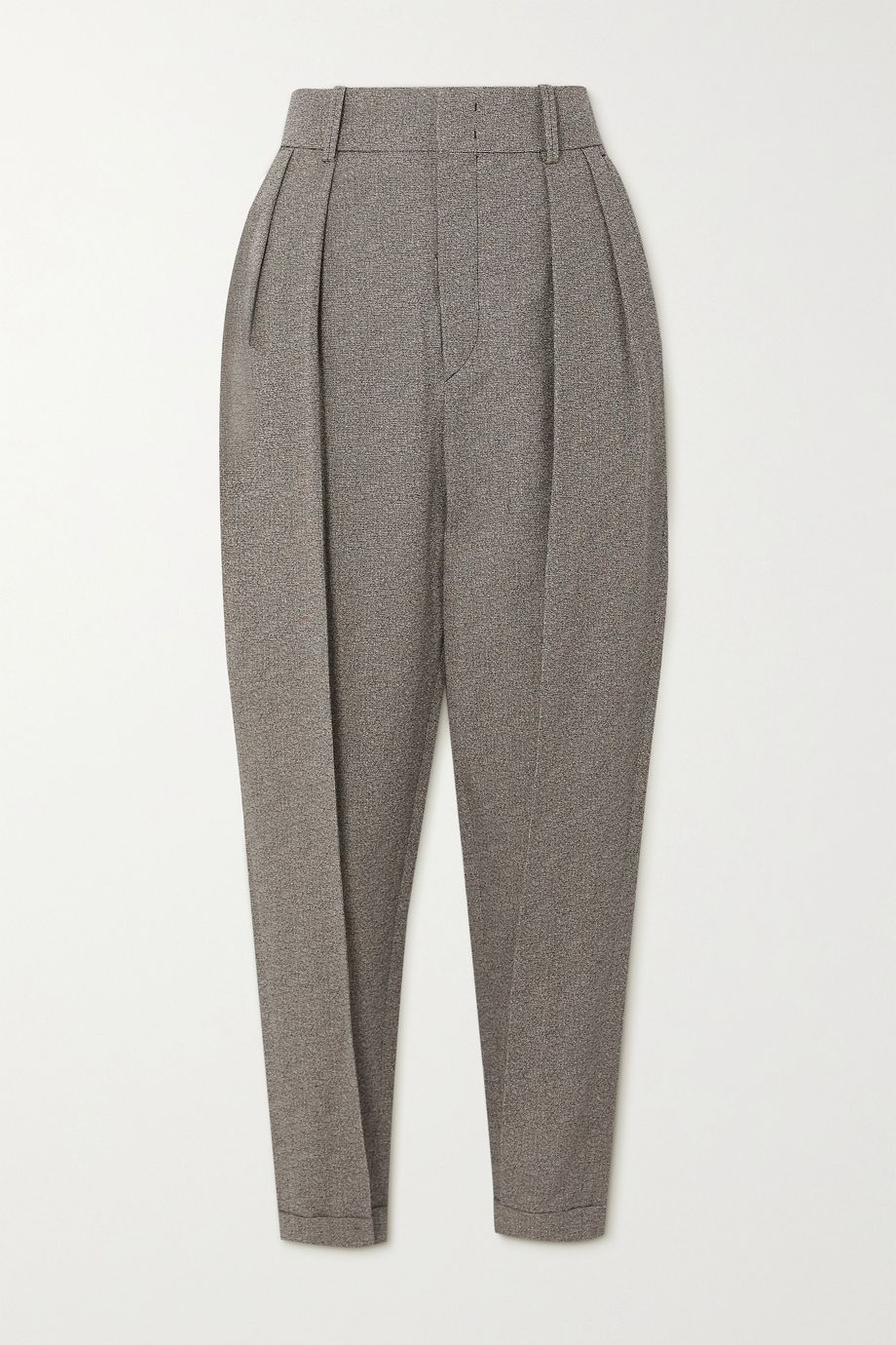 Isabel Marant Oceyo pleated woven tapered pants