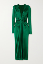 Dolce & Gabbana Twist-front satin-jersey midi dress
