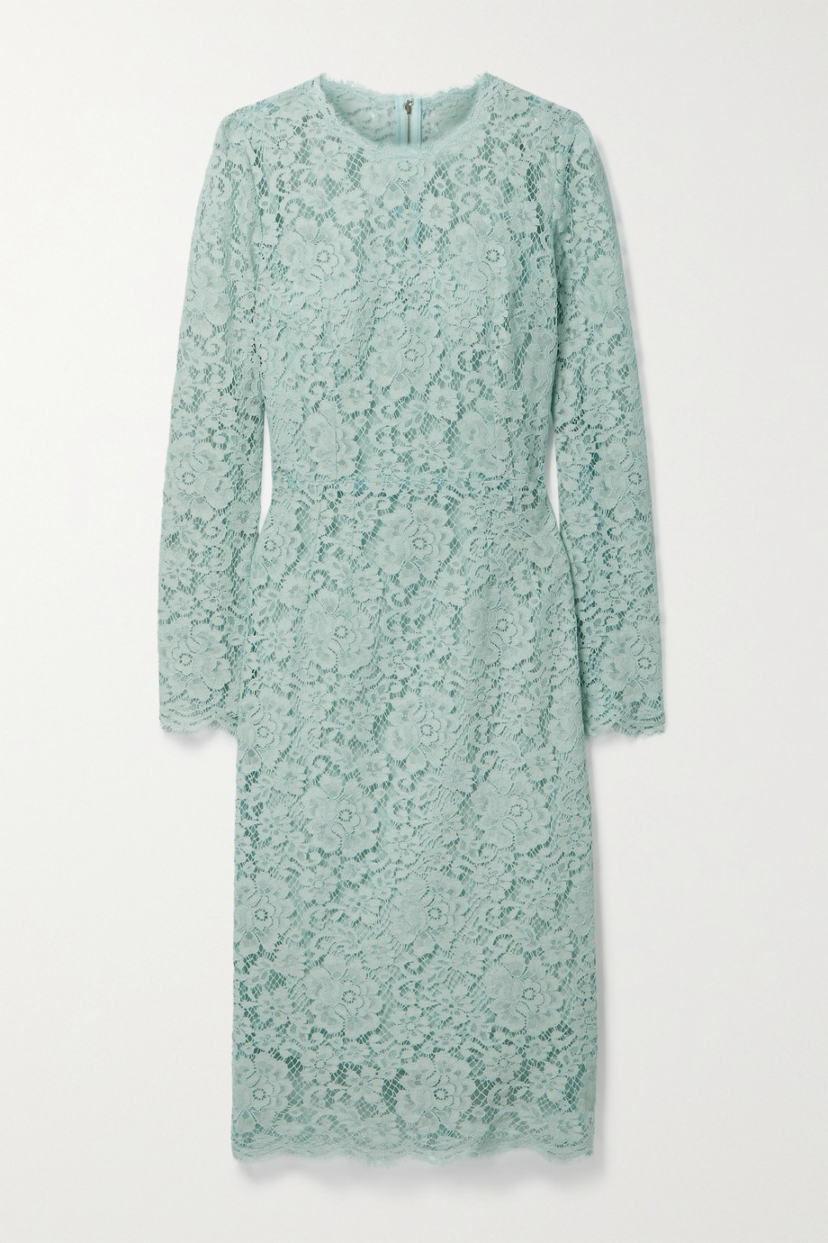 Dolce & Gabbana Cotton-blend corded lace midi dress
