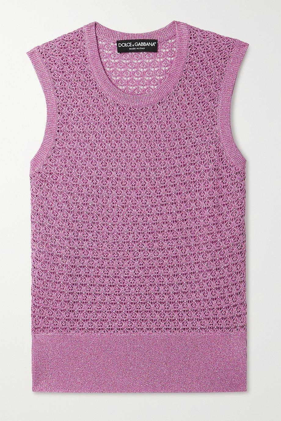 Dolce & Gabbana Metallic knitted tank