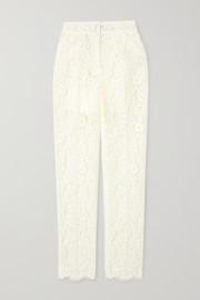Dolce & Gabbana Cotton-blend corded lace slim-leg pants