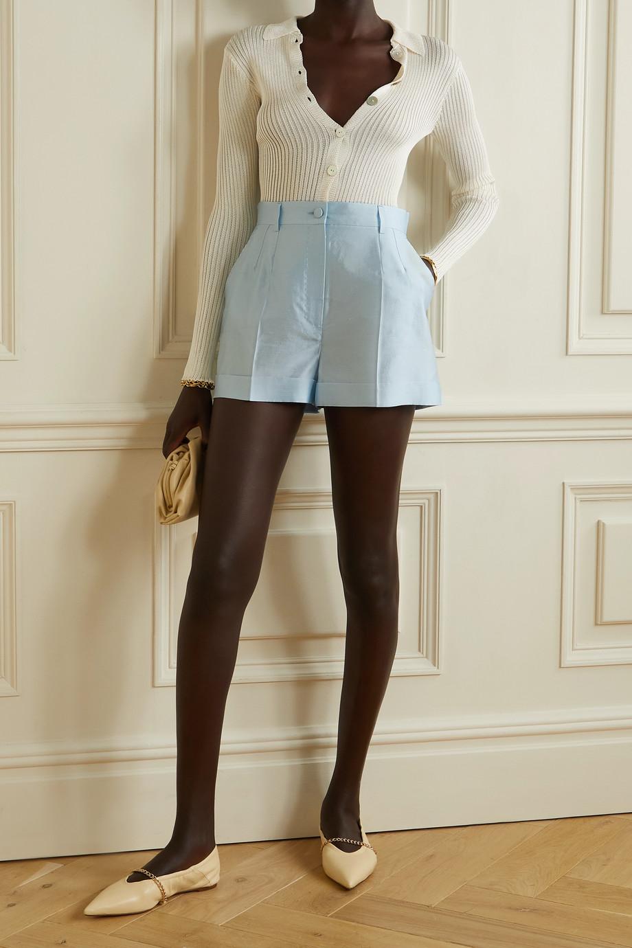 Dolce & Gabbana Silk-dupioni shorts