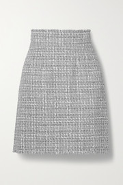 Dolce & Gabbana Frayed metallic tweed mini skirt
