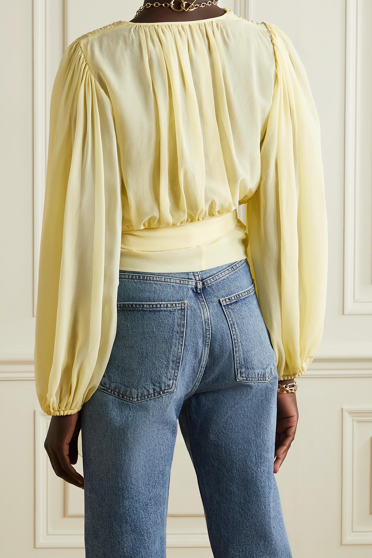 Dolce & Gabbana Silk-chiffon wrap top