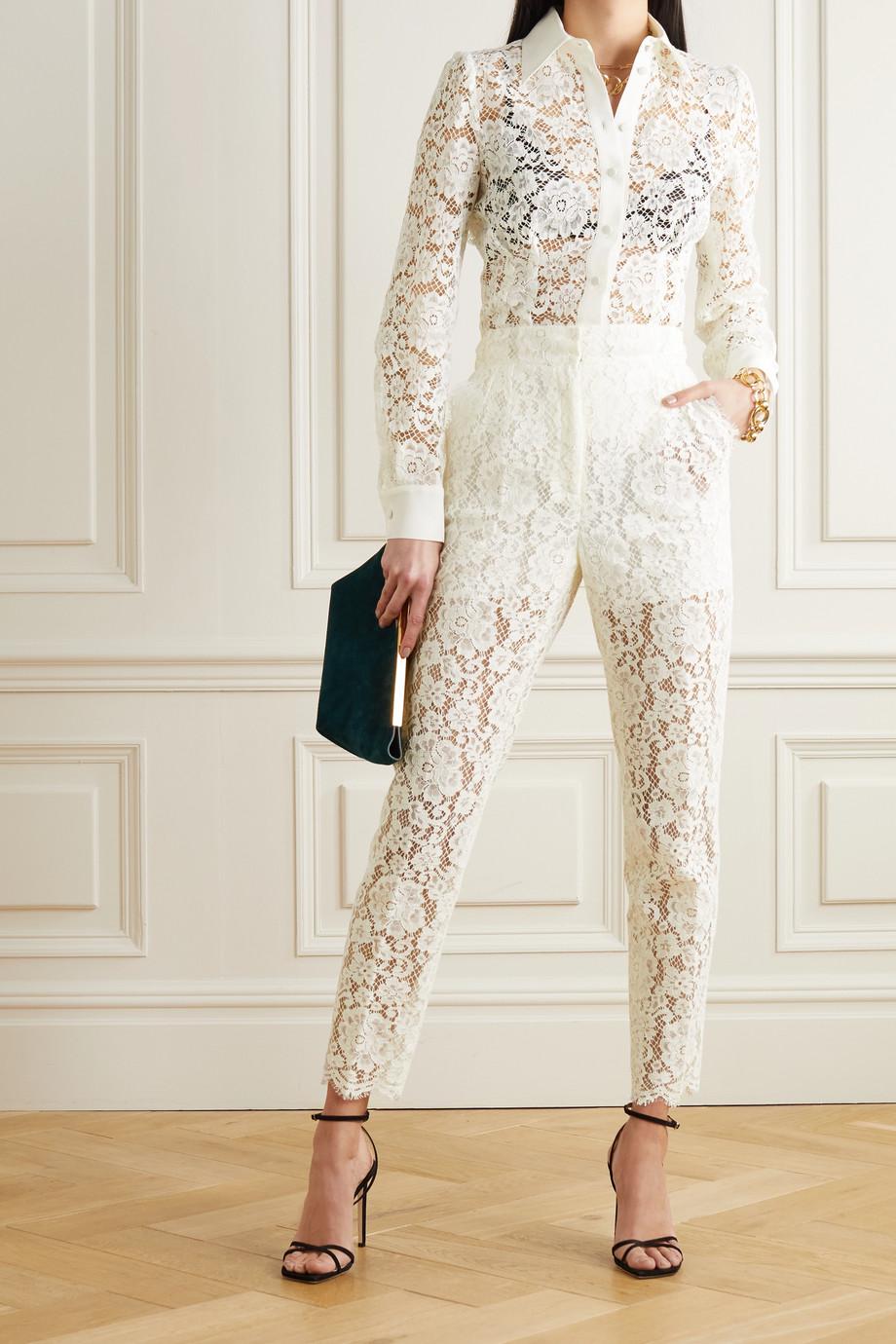 Dolce & Gabbana Bluse aus schnurgebundener Spitze