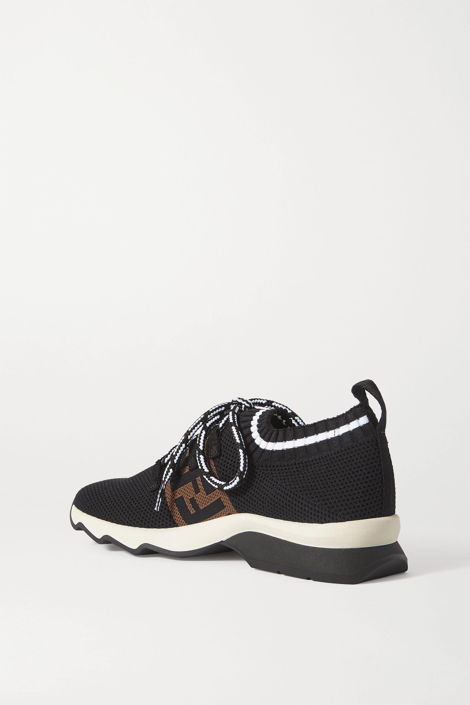 Fendi Rockoko logo-jacquard mesh and stretch-knit sneakers