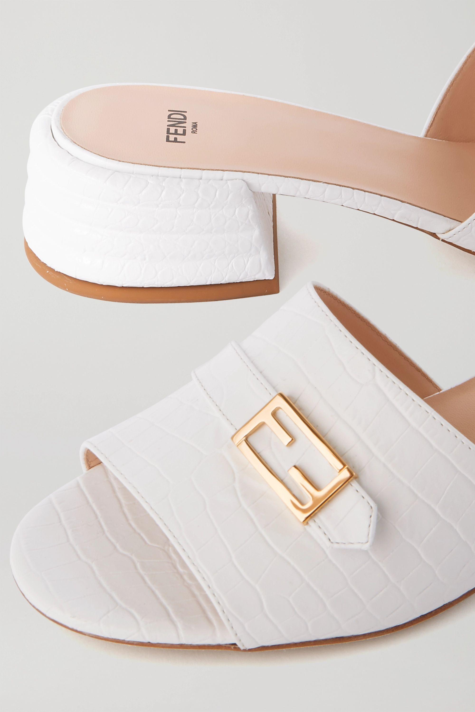 Fendi Promenade croc-effect leather mules