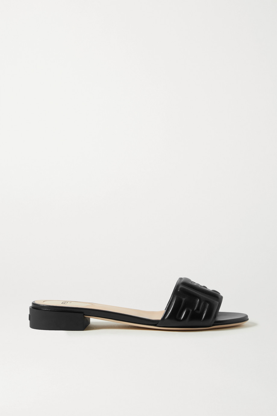 Fendi Logo-embossed leather sandals