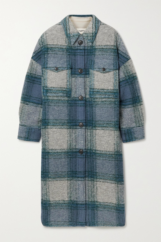 Isabel Marant Étoile Gabrion oversized checked brushed wool-blend felt coat