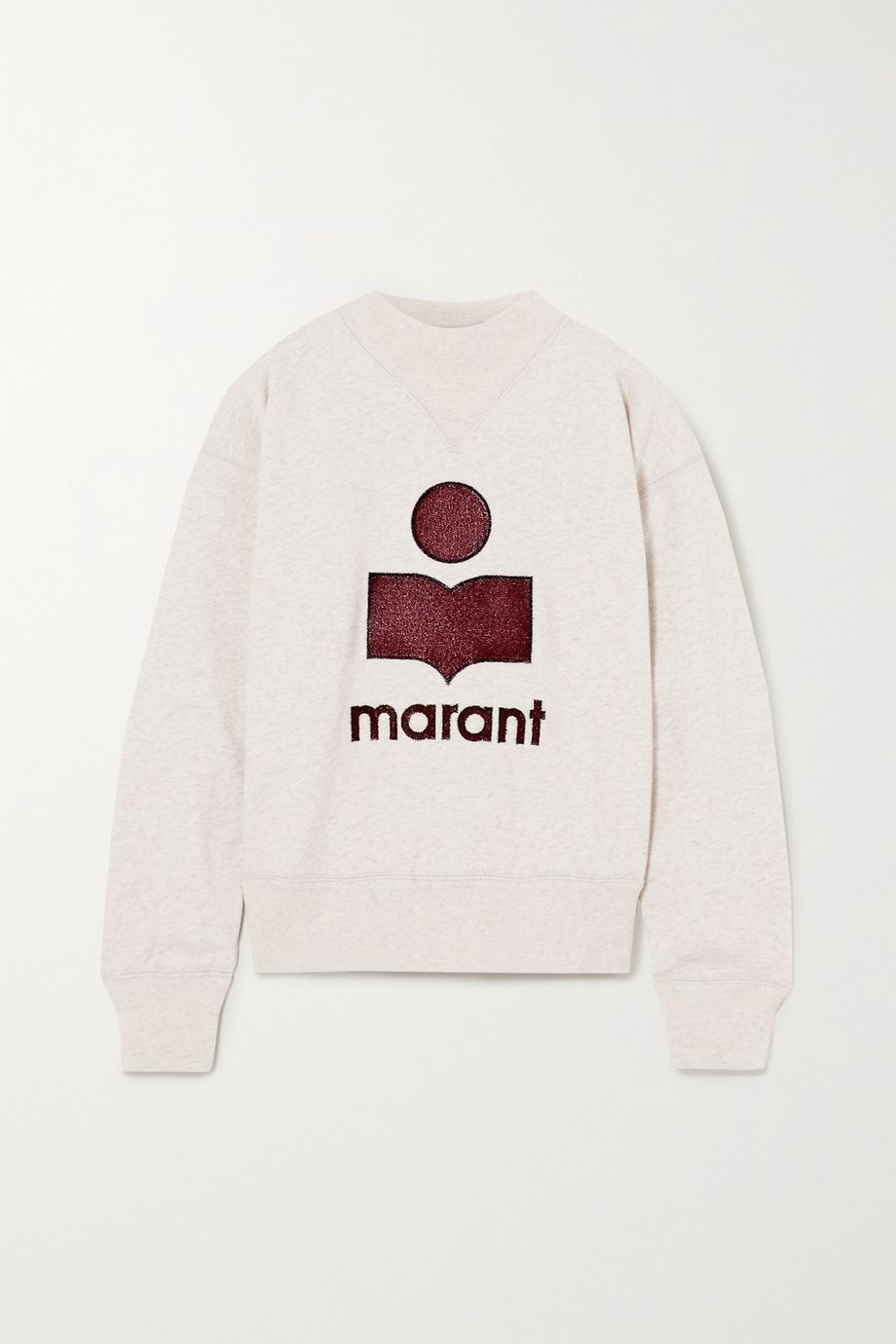 Isabel Marant Étoile Moby flocked mélange cotton-blend jersey sweatshirt
