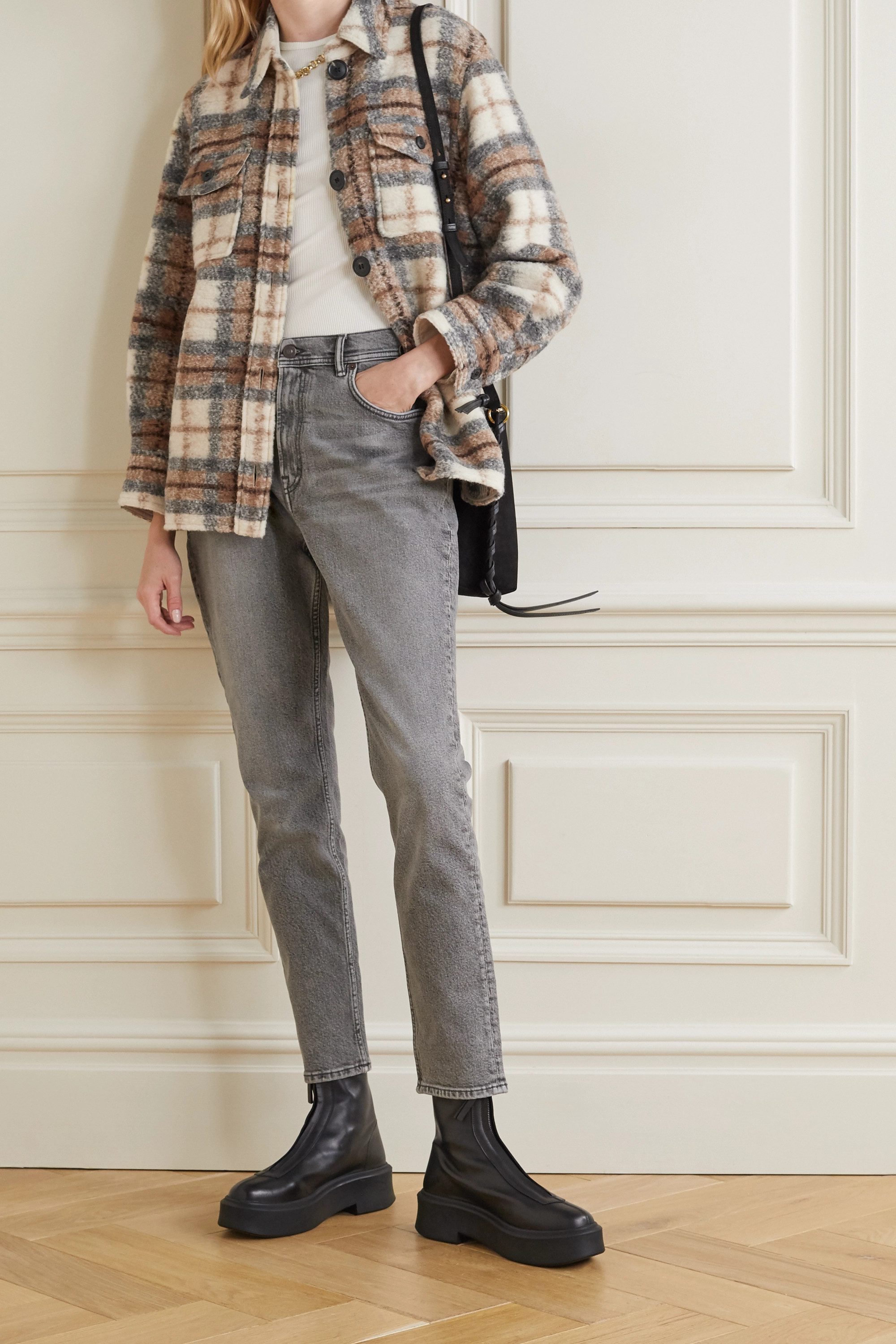 Isabel Marant Étoile Gastoni checked wool-blend jacket