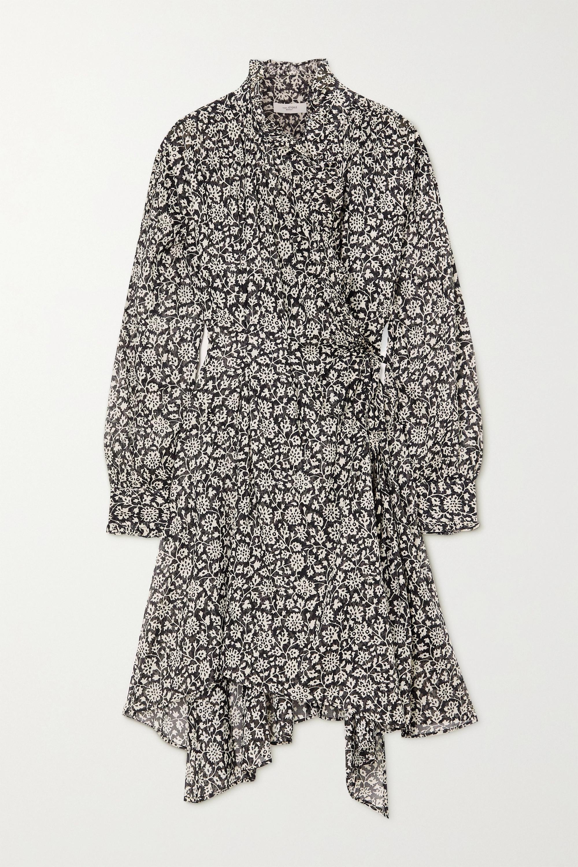 Isabel Marant Étoile Pamela ruffled floral-print cotton-voile wrap dress