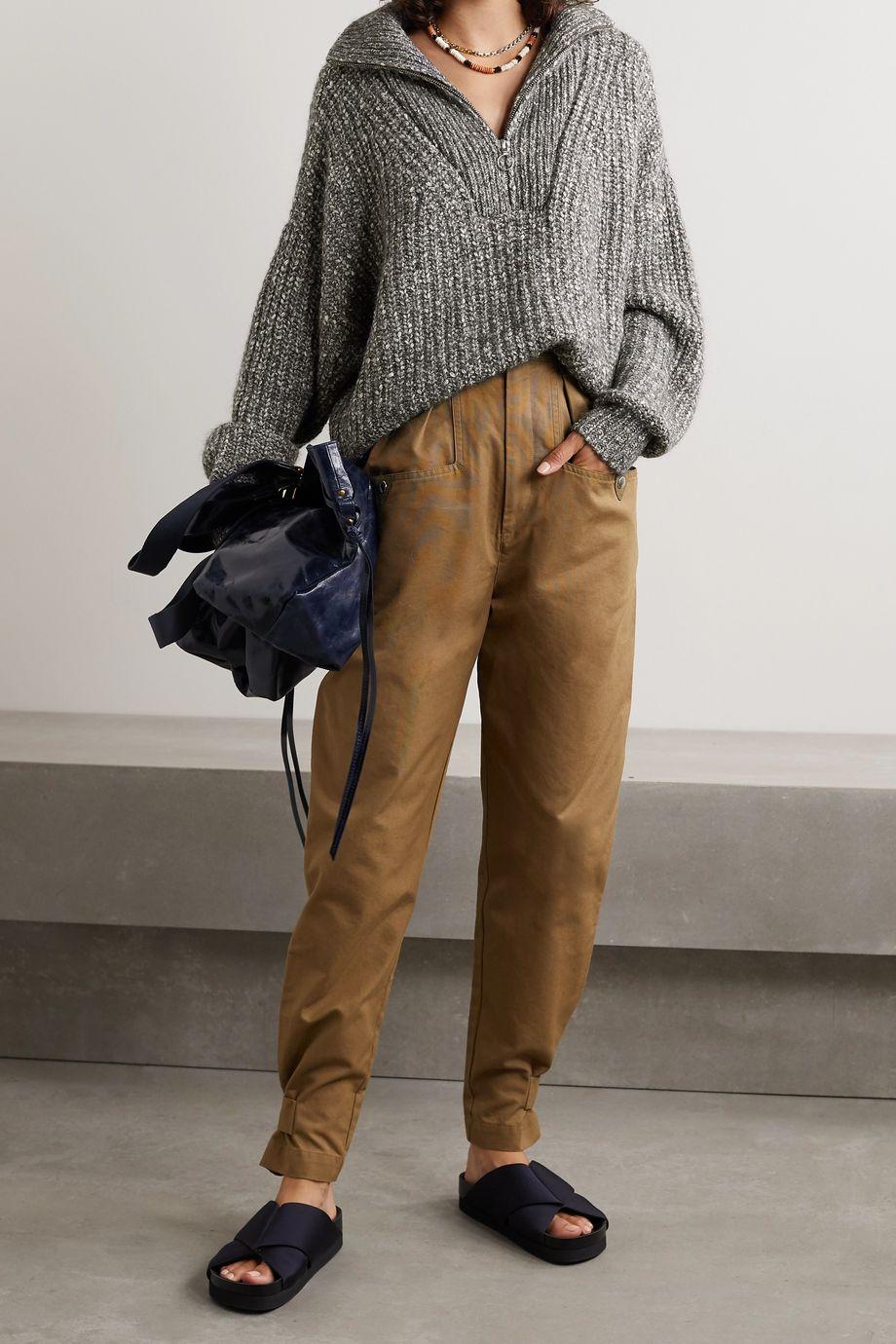 Isabel Marant Étoile Myclan Pullover aus einer gerippten Baumwollmischung