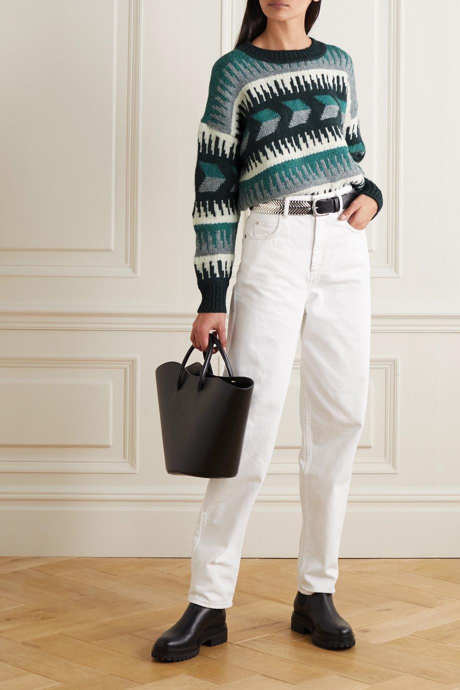 Isabel Marant Étoile Sienna Pullover aus einer Wollmischung mit Intarsienmuster