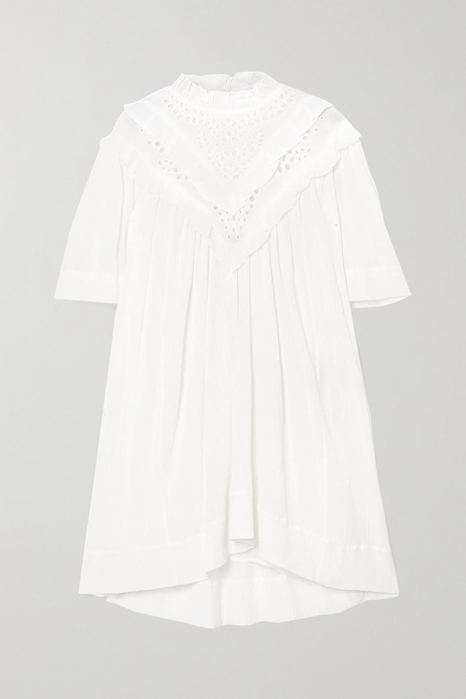 Isabel Marant Étoile Robe en coton mélangé froissé à volants Inalio