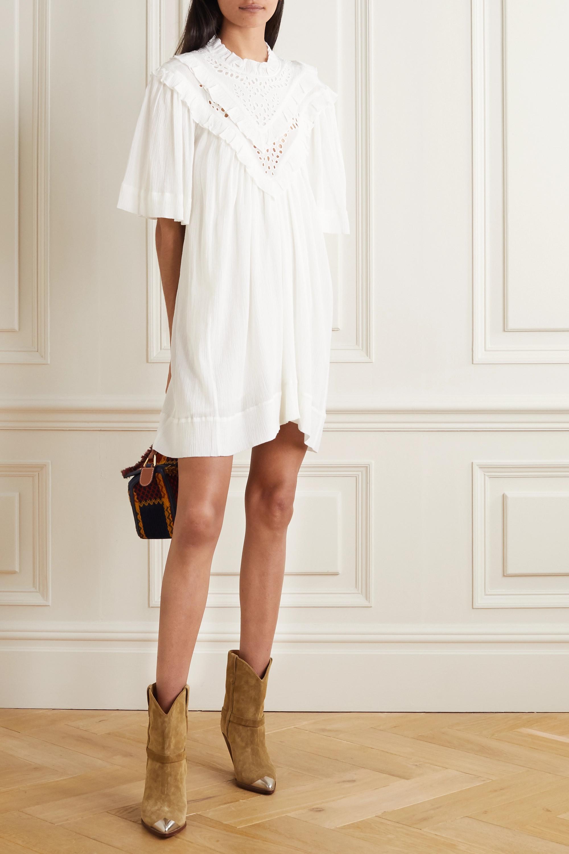 Isabel Marant Étoile Inalio ruffled crinkled cotton-blend dress