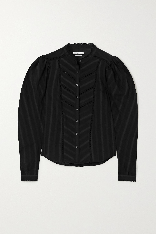Black Reafi Crochet-trimmed Cotton-voile Blouse | Isabel Marant Étoile