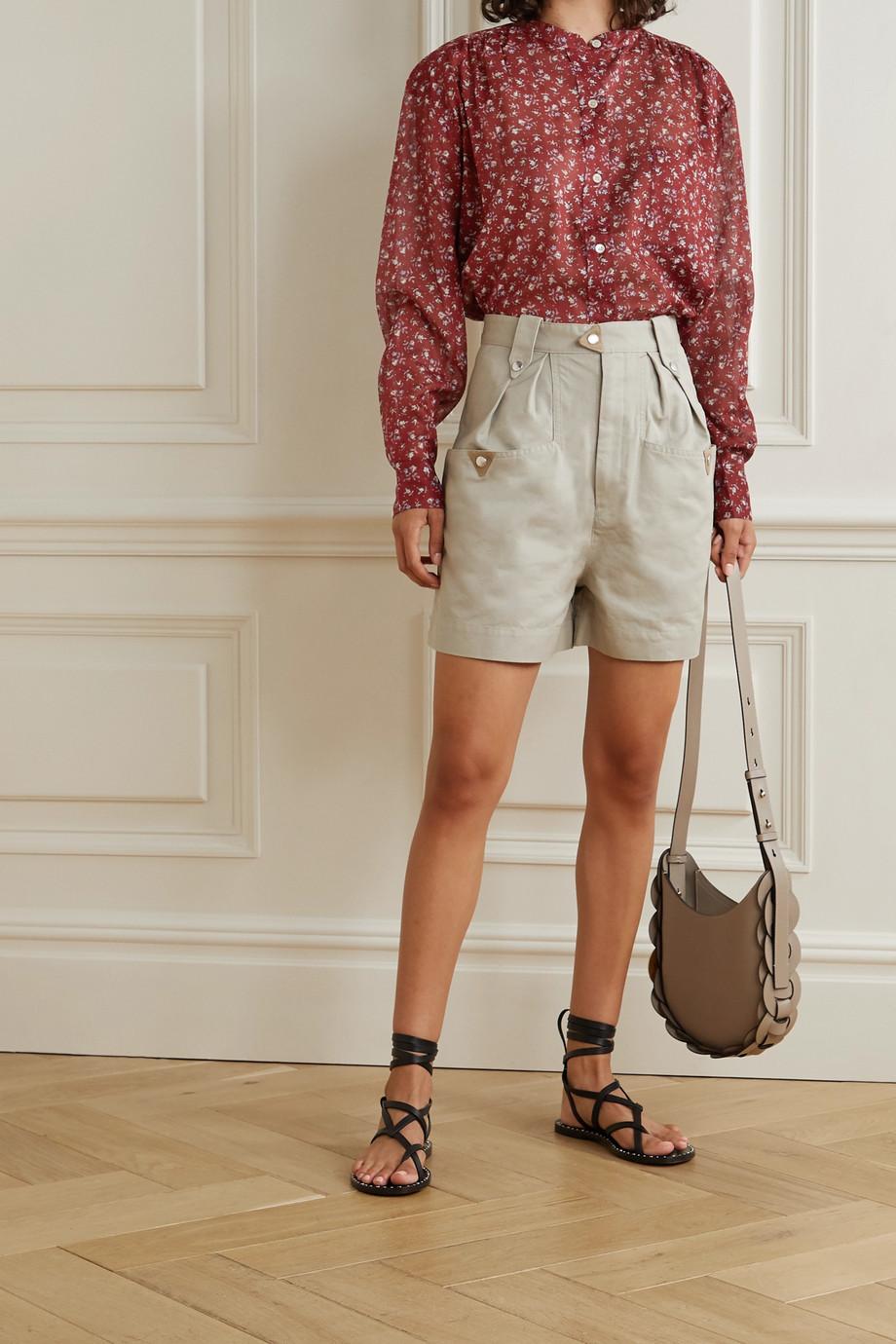 Isabel Marant Étoile Mexika Hemd aus Baumwoll-Voile mit Blumenprint