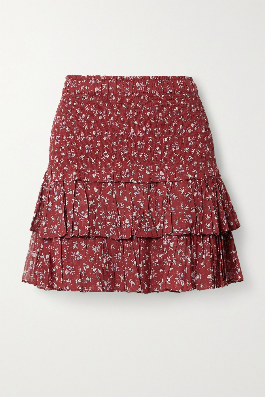 Isabel Marant Étoile Naomi ruffled floral-print cotton-voile mini skirt