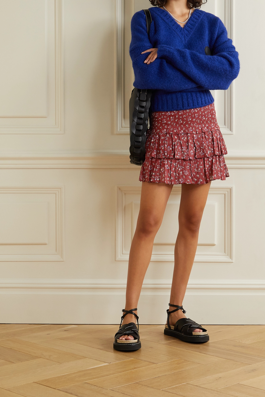 Isabel Marant Étoile Naomi ruffled floral-print cotton-voile mini skirt