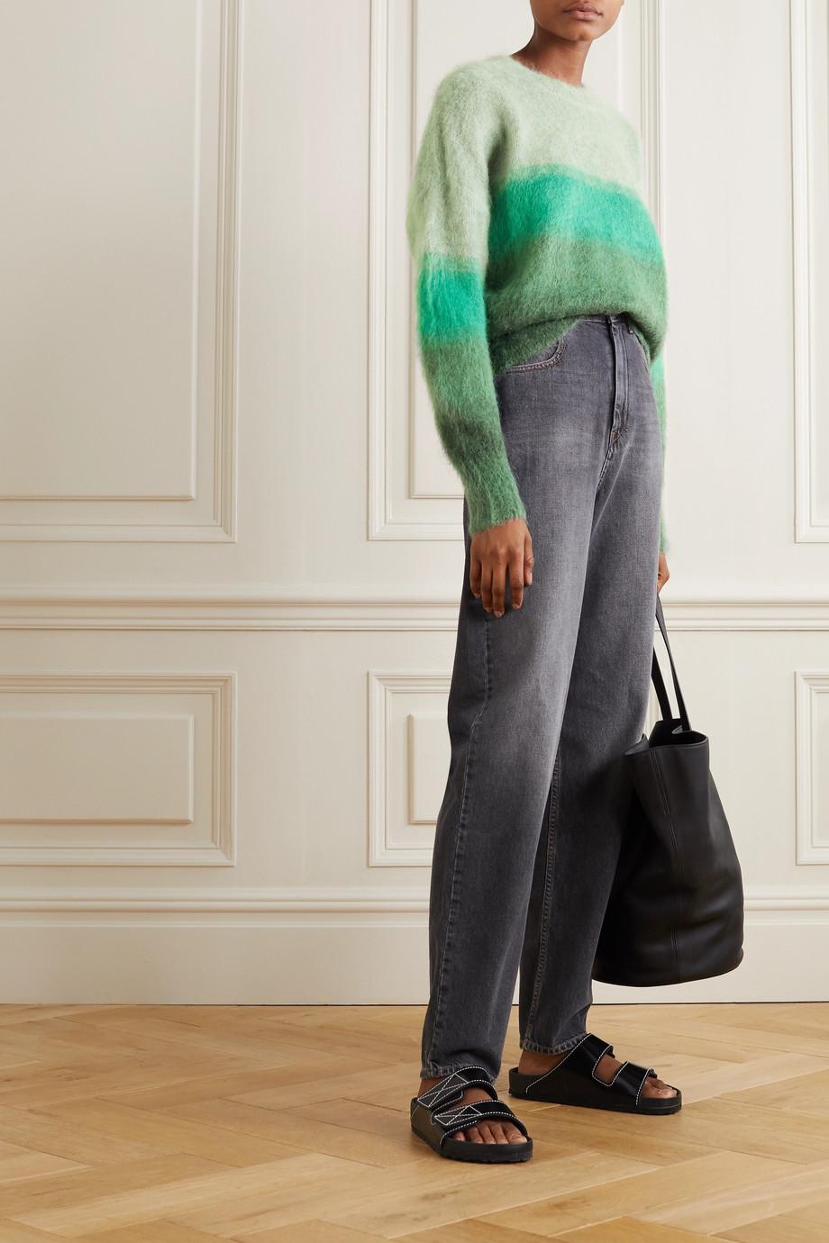 Isabel Marant Étoile Drussell gestreifter Pullover aus einer Mohairmischung